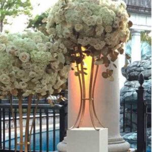 Gold Flower Stand Centerpiece Hire Sydney
