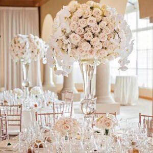 Wedding Glass Vase Centerpiece Hire Sydney
